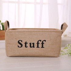 leegoal Foldable Linen Storage Box Clothes Storage Basket Bag BooksToys Organizer Box Pouches(38*26*20cm) - intl