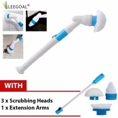 Brand New Leegoal Hurricanes Spin Scrubber Multi Function Electric Long Handle Brush Scrub Set For Household
