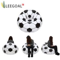 leegoal Inflatable Football Sofa Cool Design Bean Bag High Quality Eco-friendly Pvc For Adults And Kids,Black+white, Large - intl