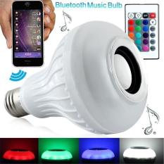 Buy Leegoal Intelligent E27 Led White Rgb Light Ball Bulb Color Changing Lamp Smart Music Audio Bluetooth 3 Speaker With 24Keys Remote Control For Home Stage White Leegoal