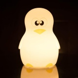 Leegoal Led Children Night Light Cute Penguin Silicone Night Lights Lamp For Kids Bedroom Nursery Baby Multicolor Flashing Usb Rechargeable Lighting Warm White Light Boy Intl Coupon