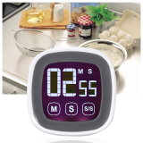 Leegoal Led Touchscreen Digital Kitchen Cooking Countdown Timer Alarm With Stand White Shopping