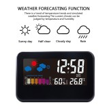 Sales Price Leegoal Multi Function Indoor Humidity Monitor Hygrometer Desk Digital Thermometer With Large Colorful Lcd Display Weather Forecast Calendar Alarm Clock Snooze Voice Control Backlight Function Intl
