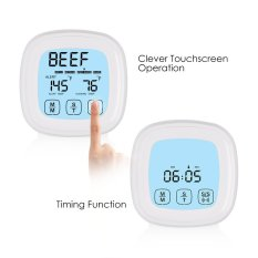 Buy Leegoal Touchscreen Oven Meat Thermometer Timer Accurate Digital Best Grill Cooking Thermometers White Intl Online