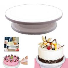Leegoal Turnable Baking Tools Rotating Revolving Wedding Birthday Cake Plate Turntable Cake Decorating Stand, White By Leegoal.