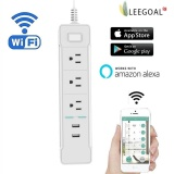 Price Leegoal Us Plug Wifi Smart Outlet Socket Usb Socket Remote Control Smart Plug Amazon Alexa Voice Control White Intl Online Singapore