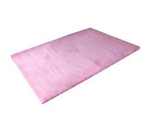 Leegoal Velvet Indoor Morden Area Rugs Pads Living Room Bedroom Floor Carpet (Pink)(Export)(Intl)