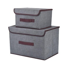 leegoalOffice And Home Essentials Fabric Storage Box With Lids Large Foldable Storage Box With Lid Basket Bin Container - intl