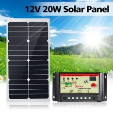 Leory 20W 12V Solar Panel Semiflexible Solar Cells With 300Cm Cable For Car Batteries Rv Boat Intl Not Specified Cheap On China