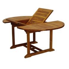 Levante Teak Wood Oval Extendable Table