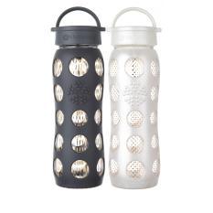 Lifefactory Glass Bottle Bundle 22Oz 650Ml Classic Cap Premium Onyx Free Style Pearl Dot Coupon