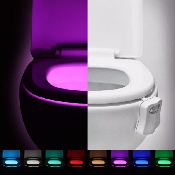 Lightme Colorful Motion Activated Toilet Lamp Nightlight for Bathroom Washroom - intl