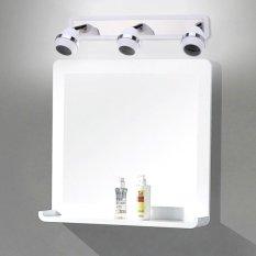 Lightme GU10 Three Heads Mirror Light 360 Degree Rotating Ball Shaped Lamp - intl