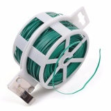 Sale Lightning Power 328 Feet 100M Green Multi Function Sturdy Garden Plant Twist Tie With Cutter Cable Tie Zip Tie Coated Wire 1 1 Roll Green Intl Lightning Power Cheap