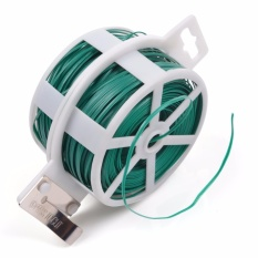Compare Price Lightning Power 328 Feet 100M Green Multi Function Sturdy Garden Plant Twist Tie With Cutter Cable Tie Zip Tie Coated Wire 1 1 Roll Green Intl On China