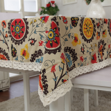 Review Linen Mediterranean Tablecloth Exotic Style Cotton Table Cloth Coffee Restaurant Square Long Radius Tablecloth On China