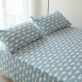 Great Deal Linen One Piece Cotton Twill Blue Small Whale Sheets 1 2 M 1 5M1 8 M 2 M Bed