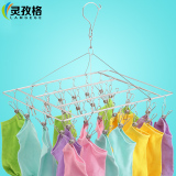Ling Zi Grid 304 Does Not Rust Steel Socks Clip Multifunction Racks Balcony Wind Towel Rack Baby Diapers Clip Price