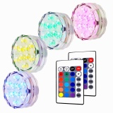 Best Deal Litake 4 Packed Submersible Lights Rgb Multi Color Water Resistant Ip67 With Remote Control Floral Decoration Intl