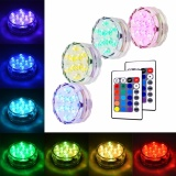 Compare Price Litake 4 Pcs Multicolor Rgb Waterresistant Led Submersible Lights Vase Lights With Remote Control Floral Decoration Lights For Aquarium Pond Vase Base Party Wedding Halloween Christmas Holiday Lighting By Luckyg Intl On China