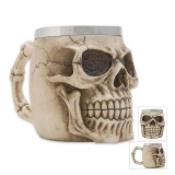 Buy Live Birds Creative 3D Skull Design Resin Stainless Steel Tankard Beer Stein Coffee Mug Cup Color Big Skull Cup Capacity 301 400Ml Intl China