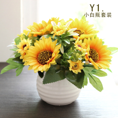 Price Comparisons Living Room Model Silk Flower Small Bonsai Ornaments Decorative Pots Sunflower