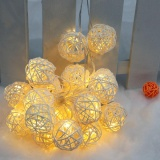 Price Lixada Outdoor Garden Solar Powered 4 6M 20Led Warm White Vine Ball Globe Light Control String Lamp Fairy Lights For Party Wedding Room Decor Intl On Hong Kong Sar China