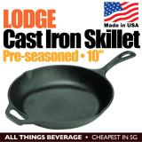 Discount Lodge Cast Iron Round Skillet Grill Pan Pre Seasoned 10 Inch 25Cm Made In Usa