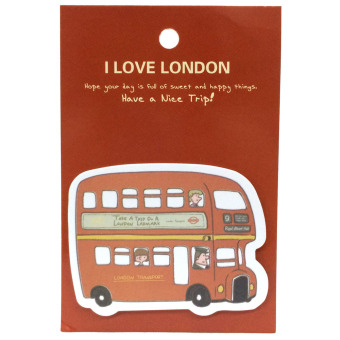 London Bus Sticky Memo Post It Notes Stick Marker (Red)