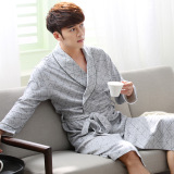Long Sleeved Pajamas Men S Pajamas Spring And Autumn Bathrobe Cotton Japanese Style Long Section Of Cotton Thin Section Spring And Summer Bathrobe Brand Coupon Code