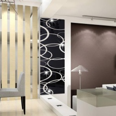 Long Square Wall Home Decoration 3D Solid Crystal Decoration Mirror Decals - intl