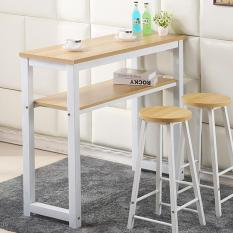JIJI Longines Bar Table Dual Layer Storage 100 Cm (Bar Table)(Free Installation + 12 Month Warranty)