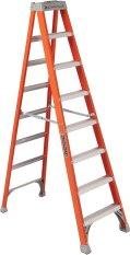 Purchase Louisville Fs1508 Hd Fiberglass Ladder Orange Gray Online