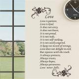 Best Reviews Of Love Is Patient Quotes Flower Vine Living Room Wall Stickers Bedroom Decals Vinyl Home Decor Wallpaper Mural Art Posters Intl