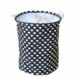 How To Get Love Pattern Large Round Linen Cotton Fabric Folding Laundry Basket Hamper Clothes Organizer Storage Bin Bag 17 X 13 Black Intl