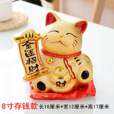 Fortune Cat Decoration Golden Creative Fa Cai Gato Negro Electric Handle Large Size Shop Opening Lucky JBO Shop Gift