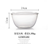 Cheaper Luminarc Tampered Glass Transparent Household Extra Large Heat Resistant Glass Bowl