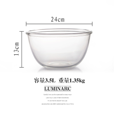 Buy Luminarc Tampered Glass Transparent Household Extra Large Heat Resistant Glass Bowl Luminarc Online