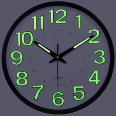 Luminova Modern Minimalist Temperature Humidity Wall Clock Mute Large Living Room Creative Quartz Wall Clock 35CM - intl
