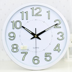 Buy Luminova Modern Minimalist Temperature Humidity Wall Clock Mute Large Living Room Creative Quartz Wall Clock 35Cm Intl Oem Online
