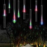 Top Rated Lumiparty 8 Falling Rain Drop Icicle Snow Fall String Led Xmas Tree Cascading Light Decor Colorful Eu Plug