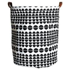 LumiParty Cute Stylish Canvas Storage Bag Toy Container Large Capacity Laundry Basket Handled Bags Household Sundries Container Style:Spliced barrels Size:40 * 50cm