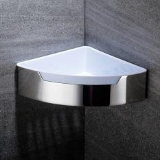 LumiParty Stainless Steel Triangle Single Layer Bathroom Shelf Wall-mounted Bath Storage Basket
