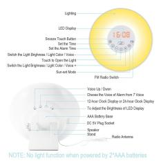 Price Comparisons For Lunsy Wake Up Light Alarm Clock With Sunrise Sunset Simulator Dimmable Brightness And Colorful Bedside Lamp Natural Sounds Fm Radio Touch Control Atmosphere Lamp Night Light