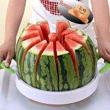 Retail Price Luowan Watermelon Slicer 40Cm 28Cm Large Stainless Steel Fruit Cantaloup Melon Slicer Cutter Peeler Corer Server For Home White