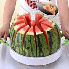 Who Sells Luowan Watermelon Slicer 40Cm 28Cm Large Stainless Steel Fruit Cantaloup Melon Slicer Cutter Peeler Corer Server For Home White