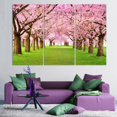 Luxry 3 Panel Modern Printed Tree Painting Picture Cuadros Sunset Canvas Painting Wall Art Home Decor For Living Room (No frame)