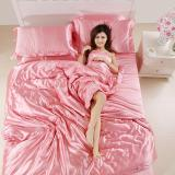 Price Luxury 4 Piece Satin Silky Bed Sheet Set Bedding Collection Duvet Cover Sets Intl Oem Online