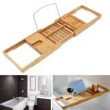Buy Luxury Bamboo Bath Bridge Tub Caddy Tray Rack Bathroom Shelf Holder Slim Intl