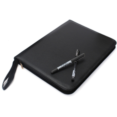 Cheapest Luxury Black Fountain Roller Pen Pencil Pu Leather Case Box 332X250X25Mm For 48 Pens Intl Online